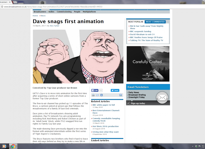 WHEN DAVE MET DOUG n DEN? – THEBRUVS ON TV